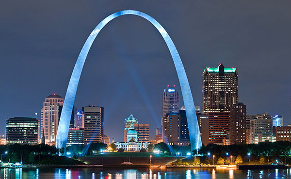 The gateway arch st louis for Architect st louis mo