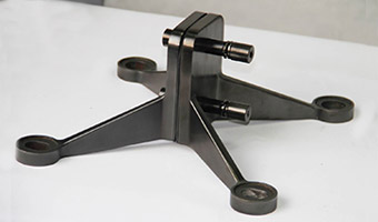 Stainless steel spider bracket shown in PVD coating Black is Black.