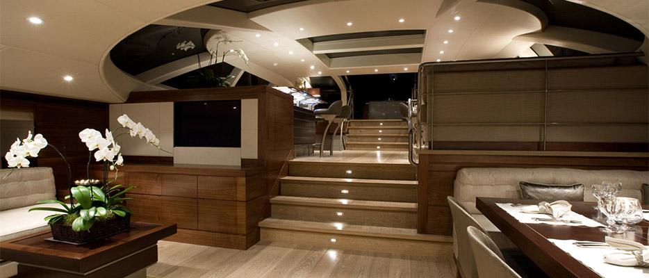 Salperton IV Yacht Interior   Designer: Adam Lay Studio