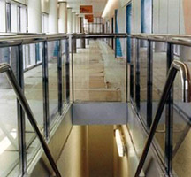 Staircases, lifts, elevators, handrails and balustrades