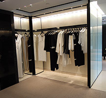 Chanel store in Bejing with fixtures in Double Stone Steel PVD coating in Black is Black SS001 Mirror finish