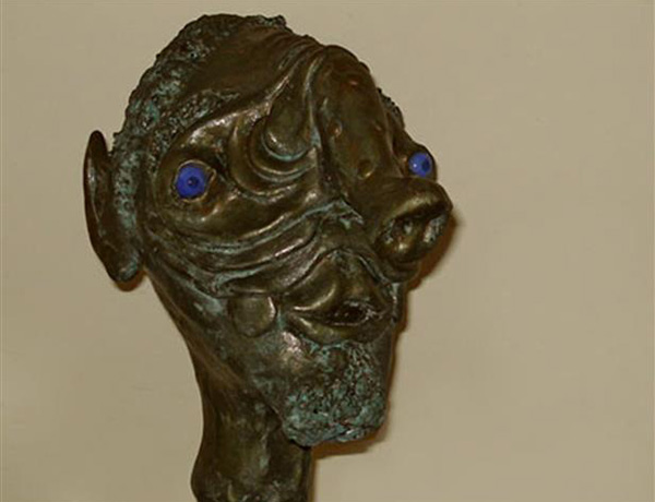 Bronze figurehead, dated circa 4000 BC