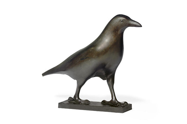 Francois Pompon (1855-1933) 'CORBEAU' a paginated bronze figure of a bird. Sold for $97,000