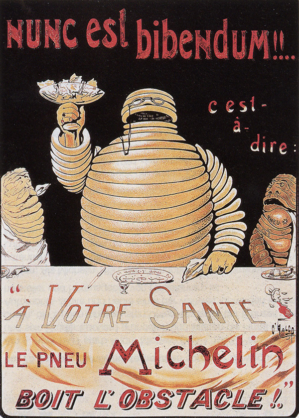 Poster of Bibendum, the Michelin Man by