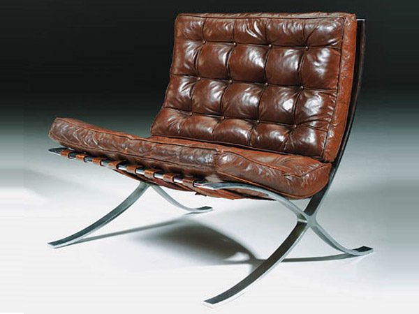 A history of the life and work of Ludwig Mies van der Rohe, his design philosophy and his Barcelona chair designed in 1929