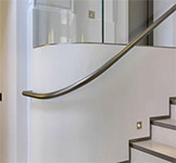 Stainless steel handrail, North House, London