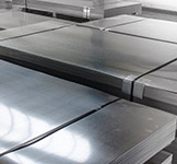 Stainless steel sheet prior to shipping
