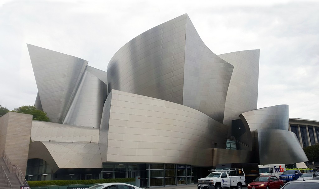 The Walt Disney Concert Hall, Los Angeles, California, home of the Los Angeles Philharmonic Orchestra