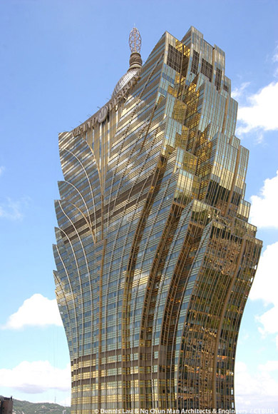The Grand Lisboa Casino Macau China Doublestone Steel