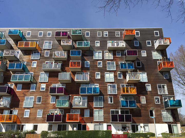 Wozoco Apartments by MVRDV Architecture – an original, inventive and colourful development in Amsterdam, The Netherlands