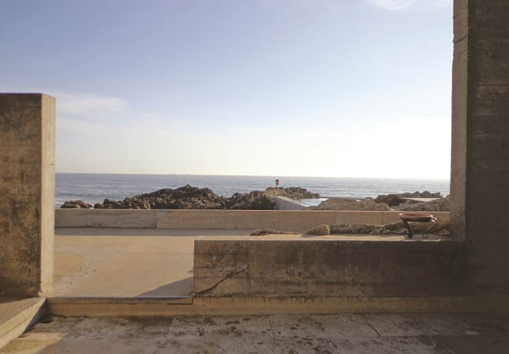 View out to sea from Swimming pool by Alvaro Siza, Leça da Palmeira, Portugal. - Photography by Ana Lopes Ramos