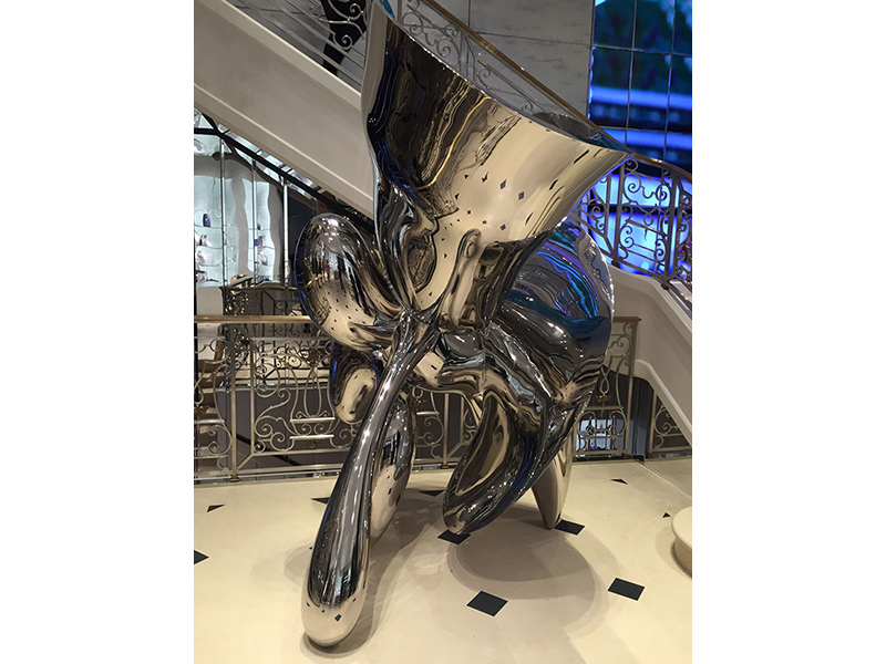 Showing sculpture positioned in stairwell, Christian Dior Bond Street store, London. Designed by Peter Marino