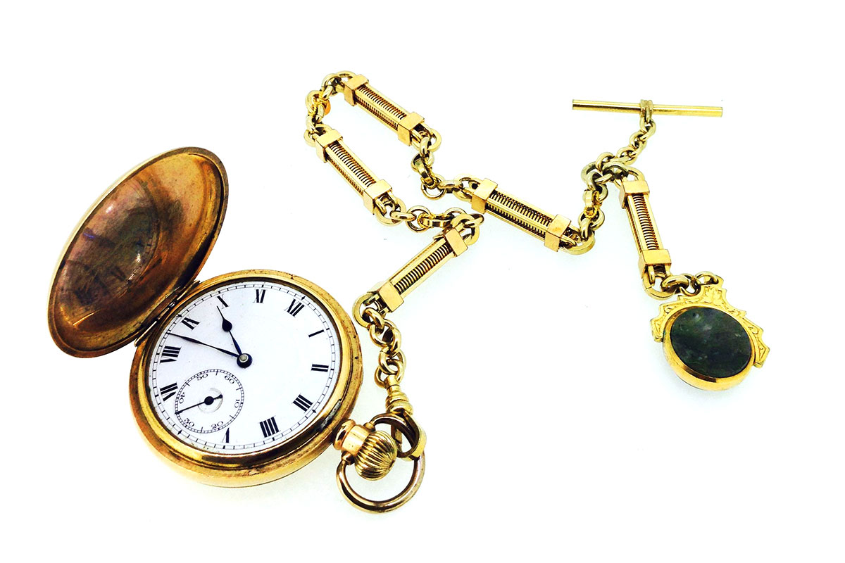 Antique Gold-plated watch sold via Sally Turner Antiques