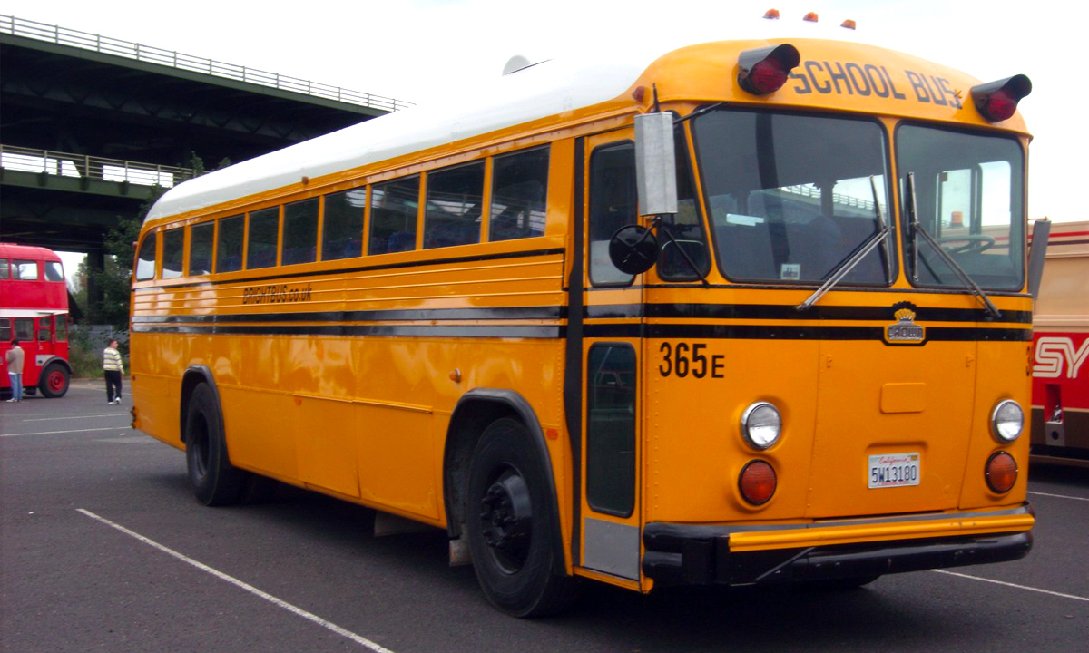 The yellow school bus is an easily recognisable part of American culture and yellow paint derived from chromium ore was originally used to paint these buses